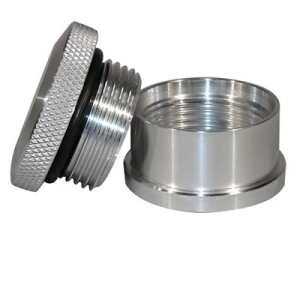 CAP AND BUNG ASSEMBLY, REAR END OR WEIGHT BAR STYLE, ALUMINUM BUNG