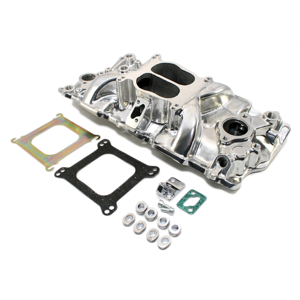 Small Block Chevy Dual Plane Polished Intake Manifold