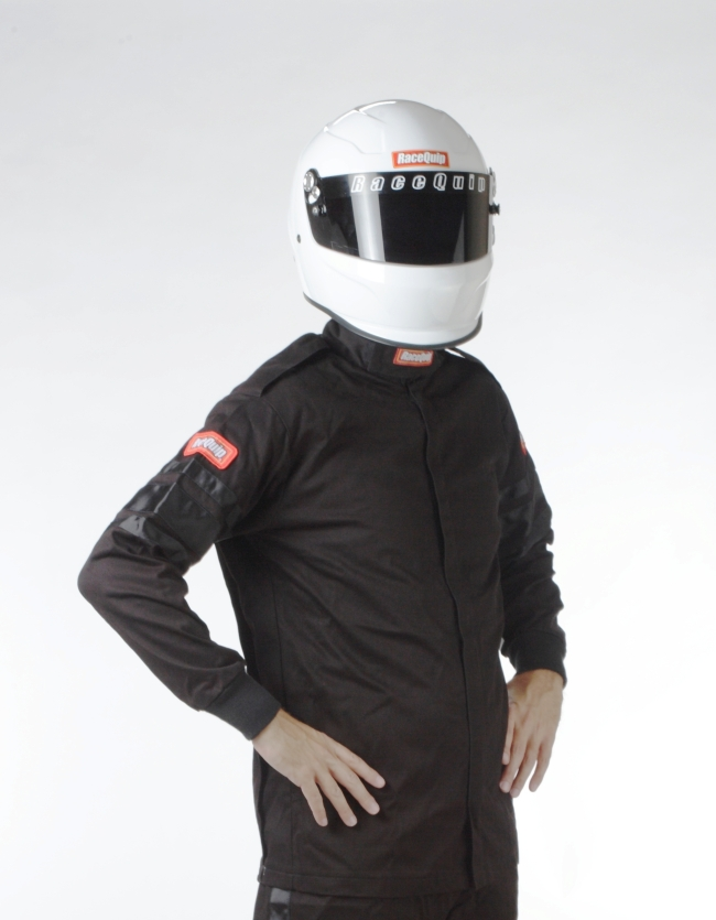 RACEQUIP SFI-1 1 LAYER JACKET BLACK 111009