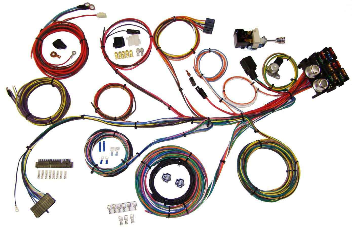 Shop For American Autowire Full Wiring Harness Universal Power Plus 13 Integrated Fuse Box System Complete Car