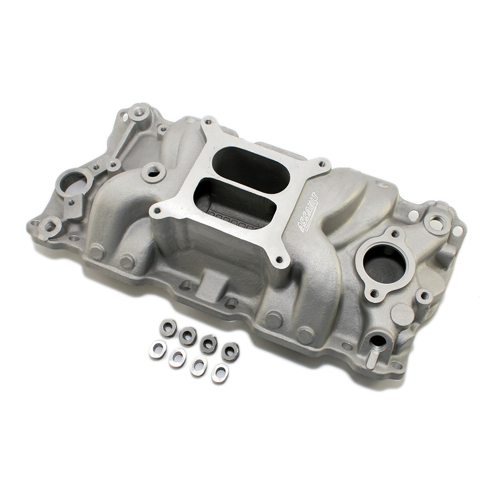 Chevy Small Block Dual Plane High Rise Satin Intake