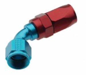 FRAGOLA PERFORMANCE SYSTEMS SERIES 2000 PRO-FLOW HOSE ENDS 226008 FITTING, HOSE END, REUSABLE, 60 DEGREE, -8 AN HOSE TO FEMALE -8 AN, ALUMINUM, BLUE ANODIZED FRA-226008