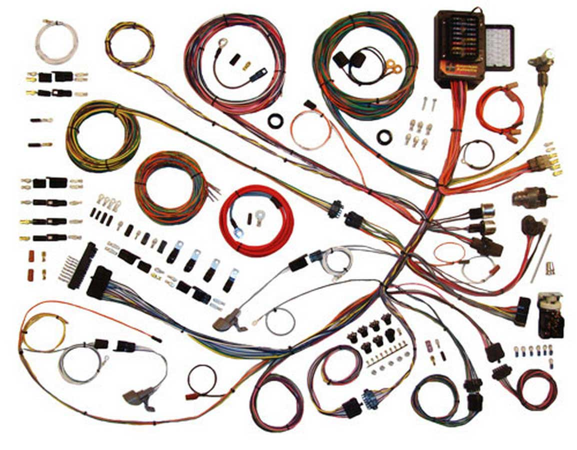 shop for american autowire wiring harnesses etheridge race parts battery tender wiring harness 61 66 ford p u wiring harness
