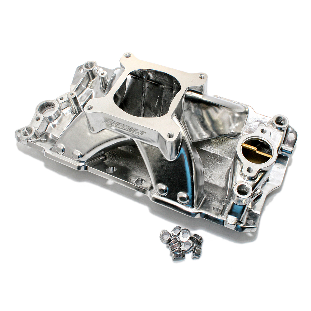 Chevy Small Block Single Plane High Rise Polished Intake