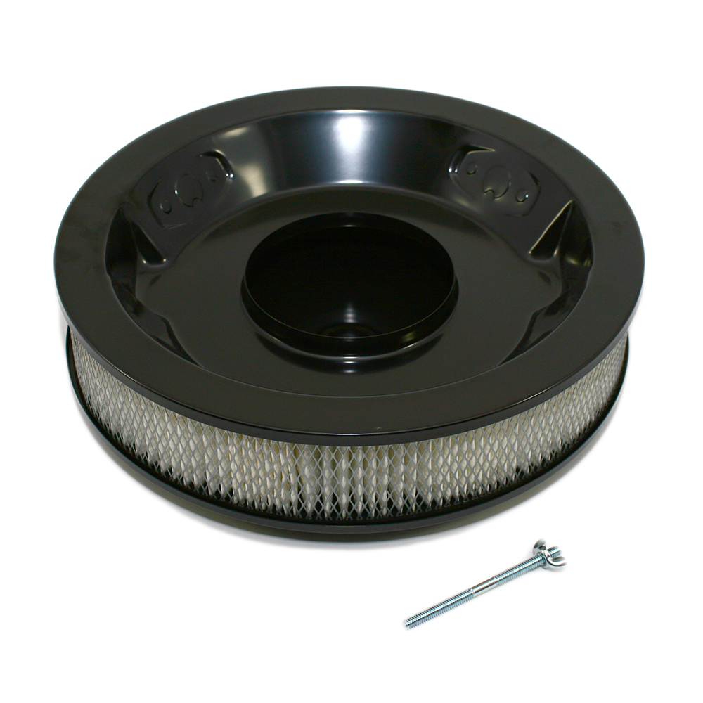 Drop Base Air Cleaner : Quot black round air cleaner with drop base assault
