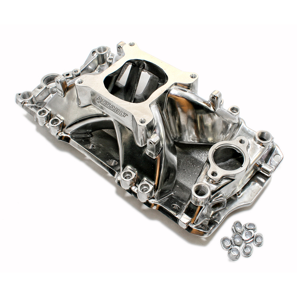 Chevy Small Block Single Plane Efi High Rise Polished