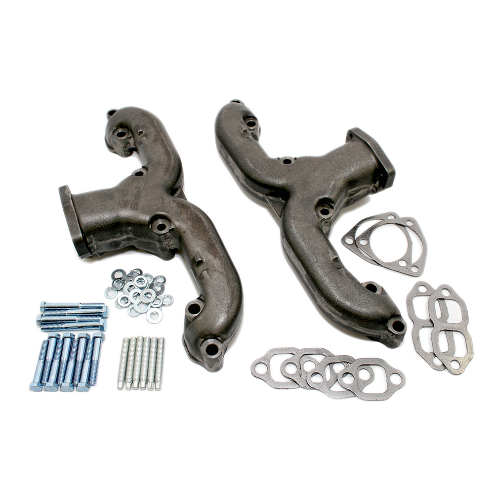 Chevy Small Block Raw Rams Horn Exhaust Manifold