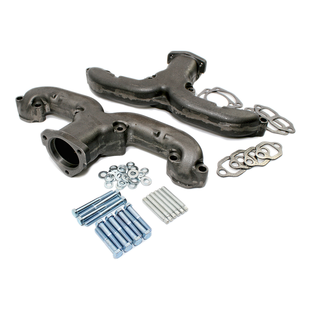 Small Block Chevy Raw Rams Horn Exhaust Manifold