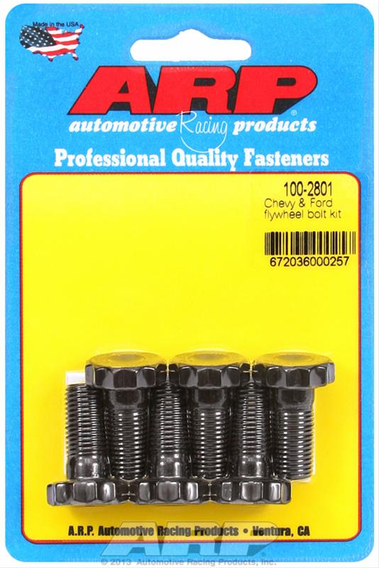 FLYWHEEL BOLTS, HIGH PERFORMANCE, CHROMOLY, BLACK OXIDE, 12-POINT, 7/16 X 1 IN., CHEVY, FORD, SET OF 6