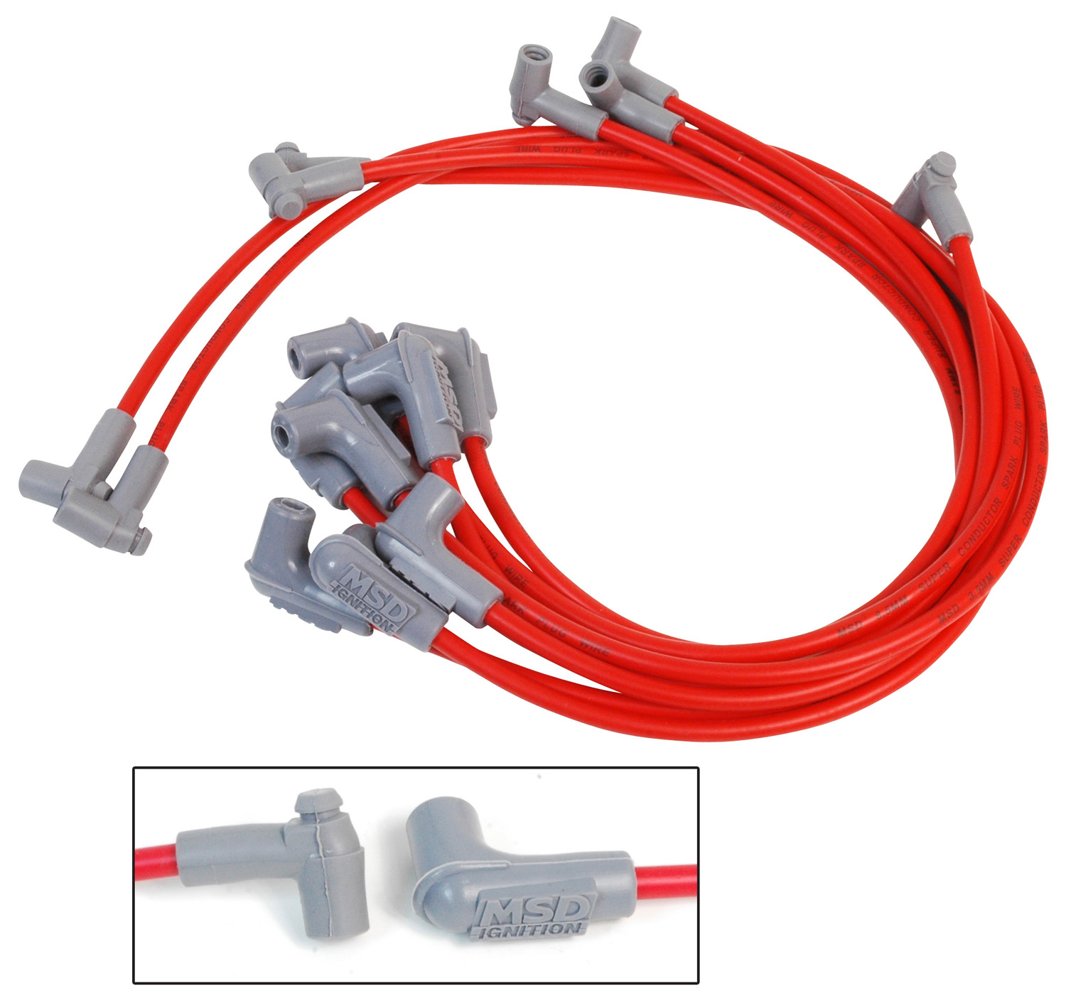 Shop For Msd Ignition Spark Plug Wires Performance Auto Gm Small Cap Hei Wiring Sbc Over The V C Red