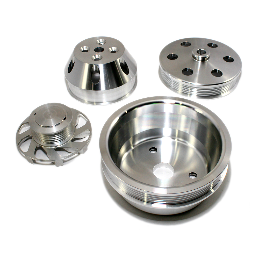 Small Block Chevy Serpentine Pulley Kit Long Water Pump :: Assault ...