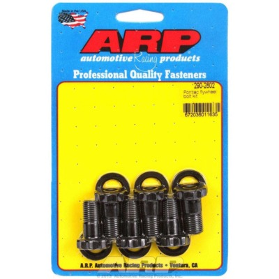 FLYWHEEL BOLT KIT, PRO SERIES, 1/2-20 IN THREAD, 1.000 IN LONG, 12 POINT HEAD, CHROMOLY, BLACK OXIDE, PONTIAC V8,