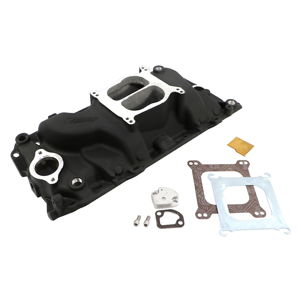 Big Block Chevy Oval Port Black Intake Manifold