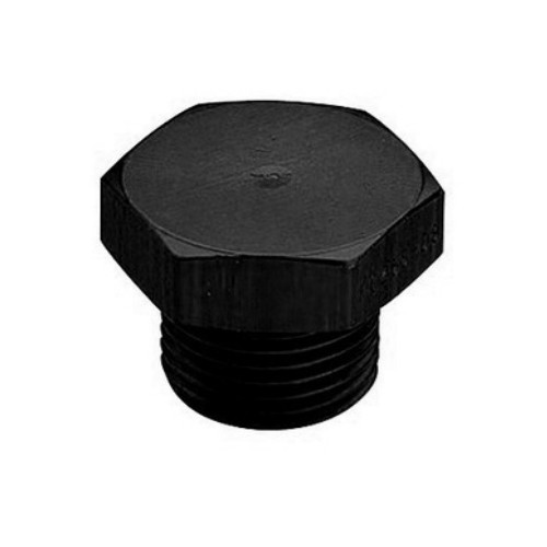 -16 AN ORB O-RING BOSS PORT PLUG BLACK