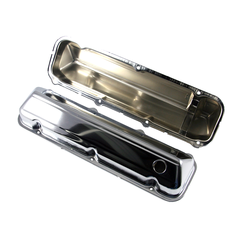 CHROME STEEL VALVE COVERS FORD 429-460 BIG BLOCK 68-UP