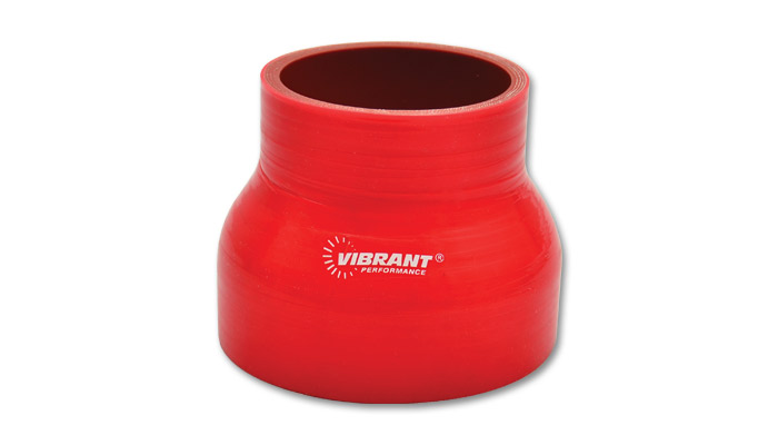 Vibrant 2785R Red 4 Ply 90 Degree Reducer Elbow Vibrant Performance