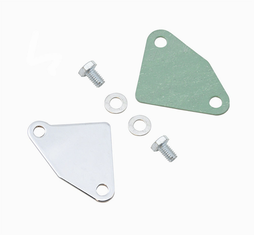 Chrome Racing Power R2300 Manifold Block-Off Plate for Small Block Chevy