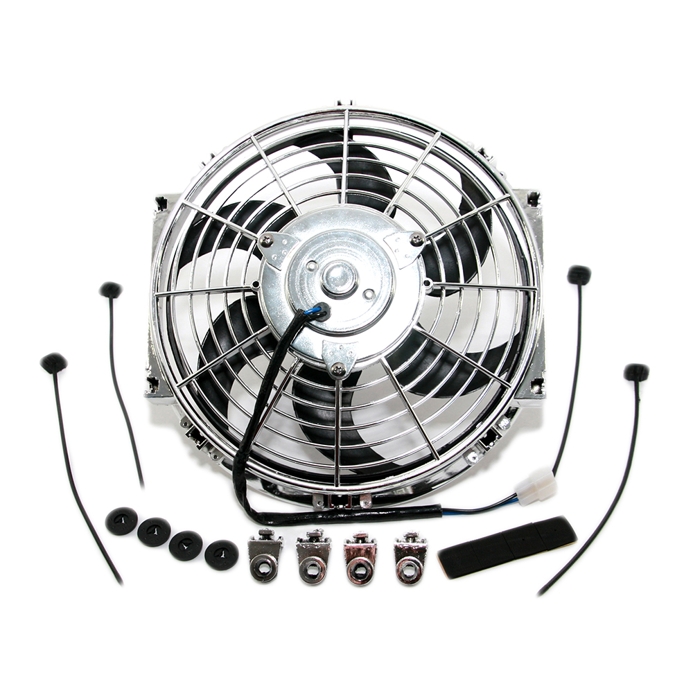 10 Quot Chrome S Blade Electric Radiator Fan W Hardware