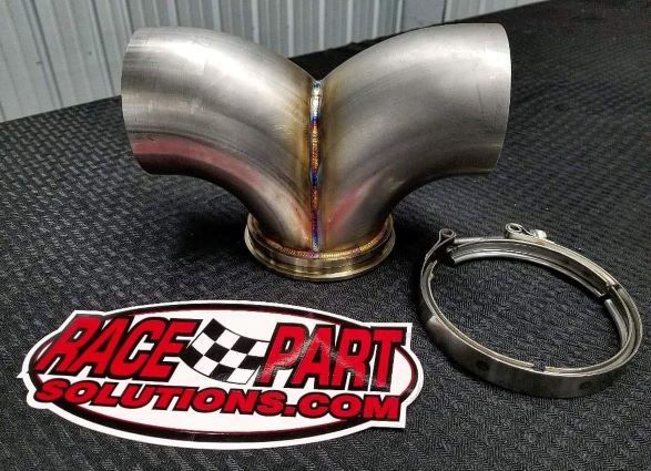 481866 GARRETT T6 TURBO STAINLESS DUAL EXIT DOWNPIPE KIT