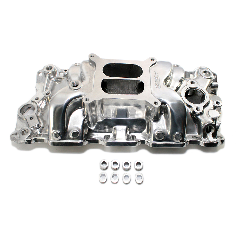 Chevy Small Block Dual Plane High Rise Polished Intake