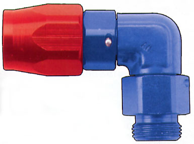 FRAGOLA PERFORMANCE SYSTEMS POWER FLOW HOSE END FITTINGS CUTTER STYLE BLUE RED BLACK ANODIZED 189007