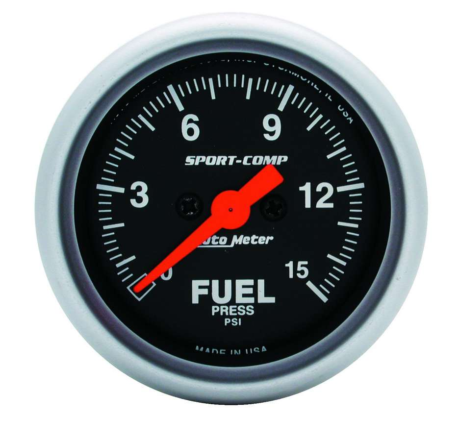 Auto Meter Sport Comp 2-1//16 0-15 PSI Mechanical Boost Gauge 3350