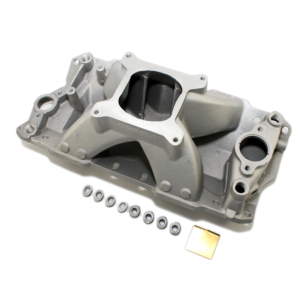 Small Block Chevy Single Plane High Rise Satin Intake