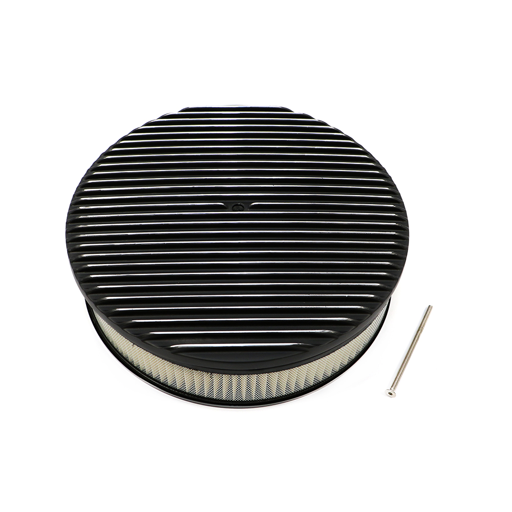 Round Air Cleaners For Tractors : Quot round finned top black air cleaner assault