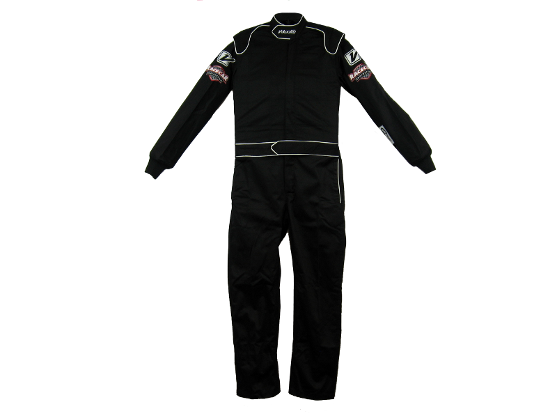 FRONT-SIDE VIEW - RACECAR COMPETITIVE EDGE™ 'ULTIMATE' 1-LAYER RACING SUIT MANUFACTURED BY VELOCITA-USA™.