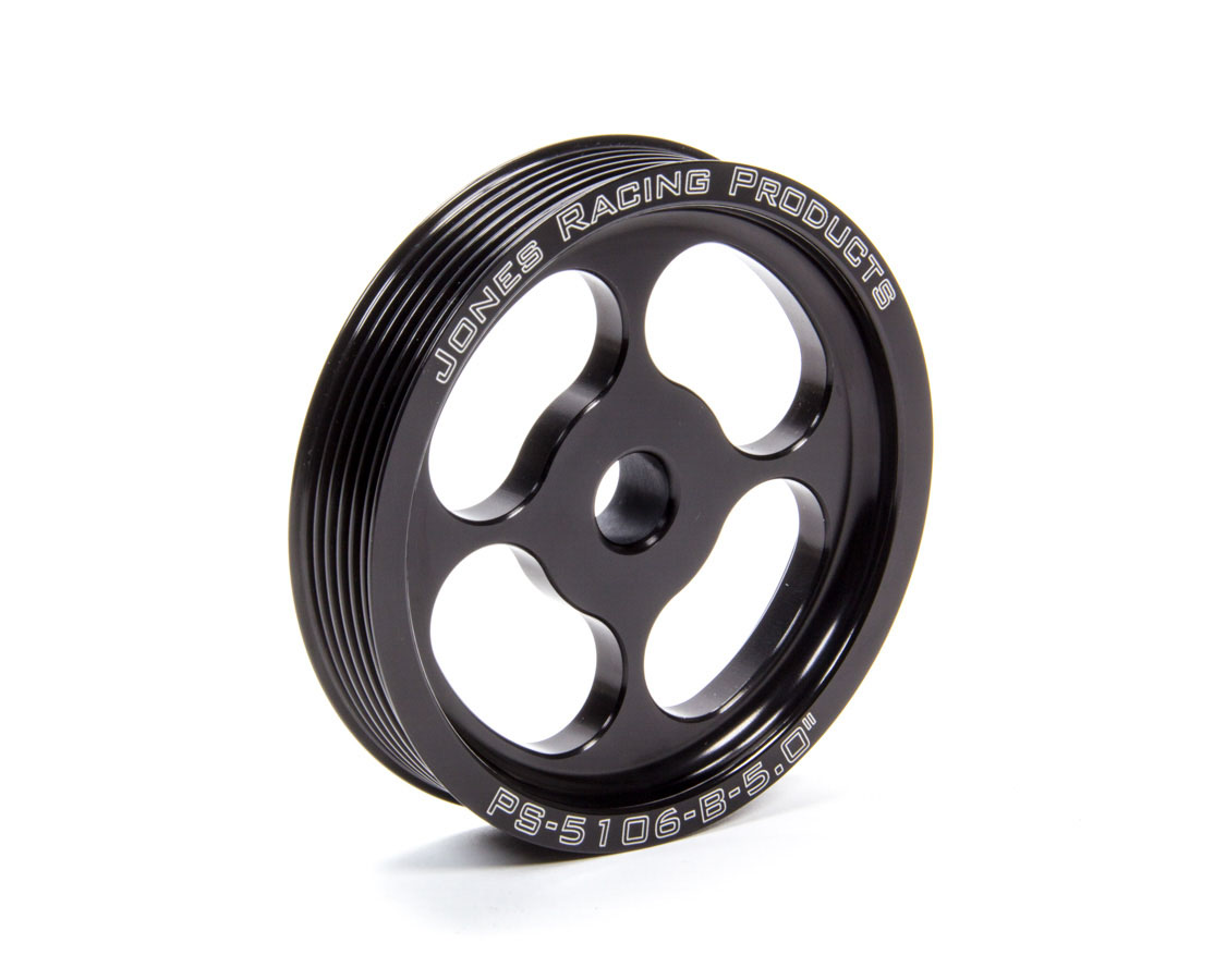 6 Jones Racing Products PS-3106-B-6.000 V-Belt Press Fit Power Steering Pulley