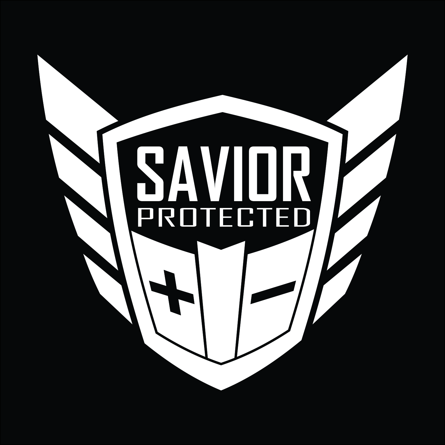 Savior Window Decal Each White