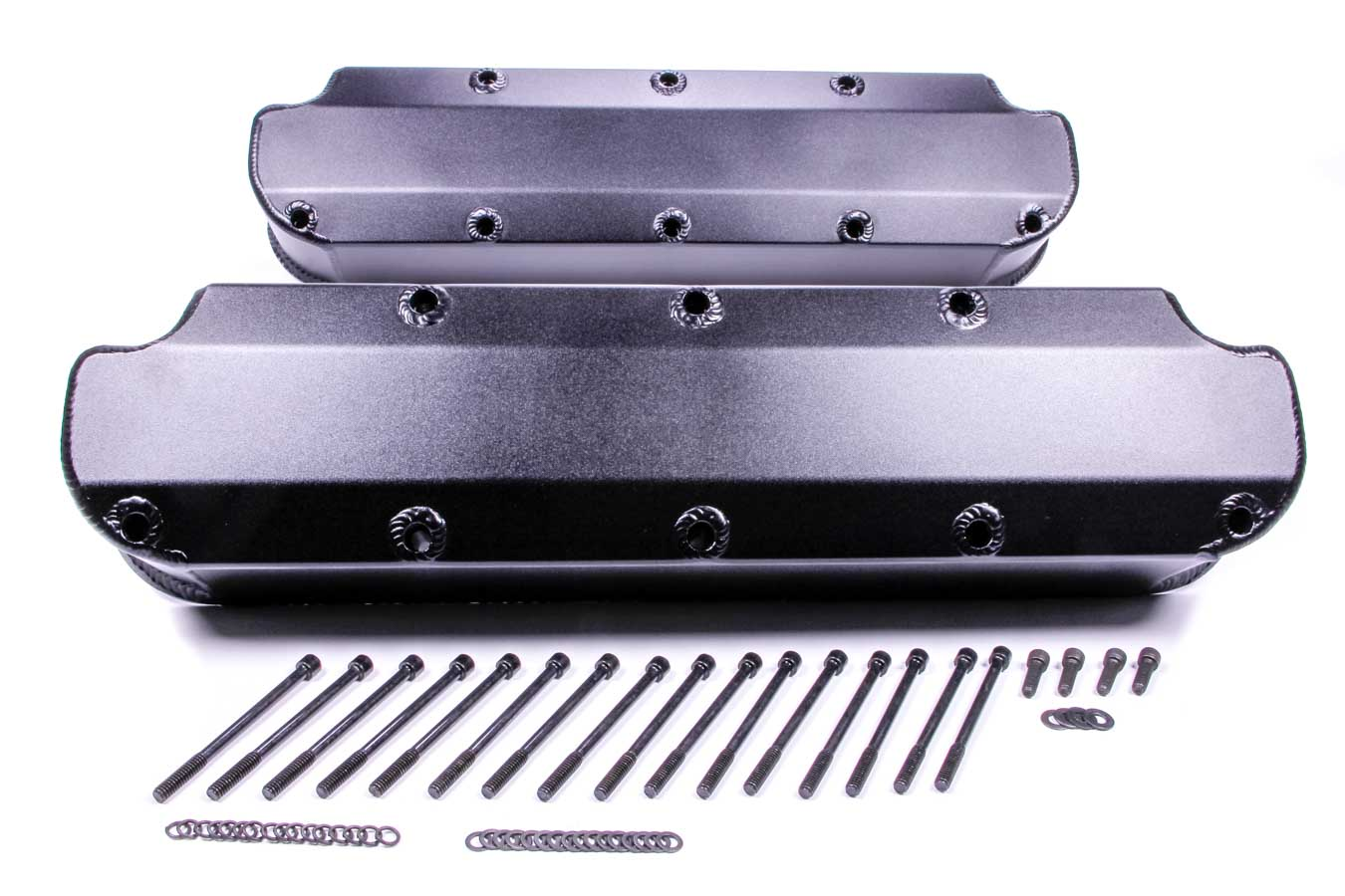 PRW 4035007 Aluminum Valve Cover Tall Satin Black For Small Block Chevy