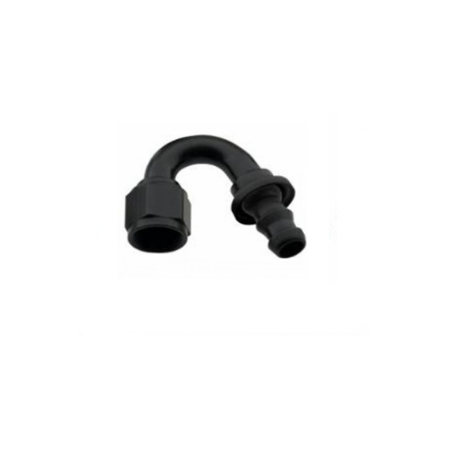 FRAGOLA PERFORMANCE SYSTEMS -12 AN PUSH LOCK FITTING BLACK 215012-BL