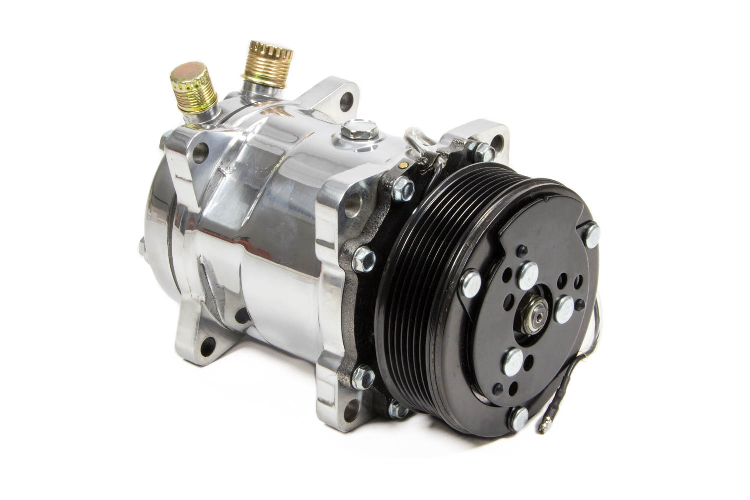 Tuff Stuff 4515NA6G Chrome 6-Groove Pulley Sanden Air Conditioning Compressor