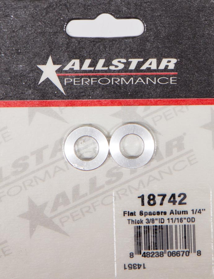 Tapered Spacers Aluminum 3//8in ID 1//2in Long ALL18714