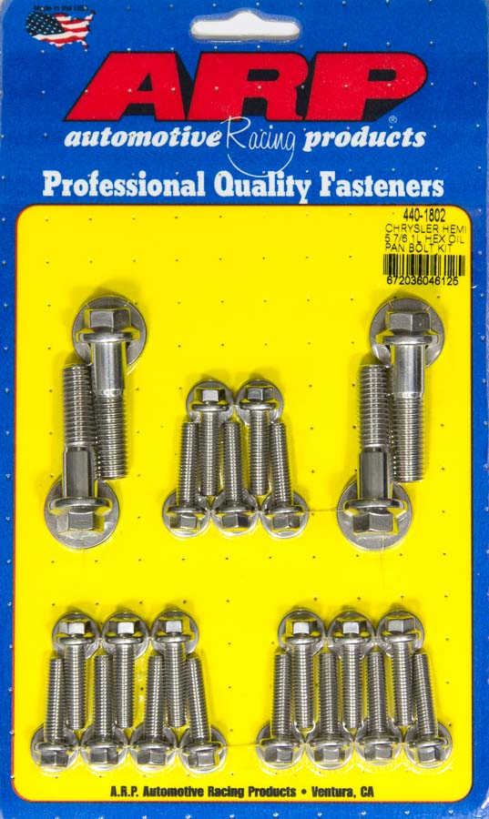 ARP Intake Manifold Bolt Set 435-2101; Polished Hex Head Stainless for Chevy BBC