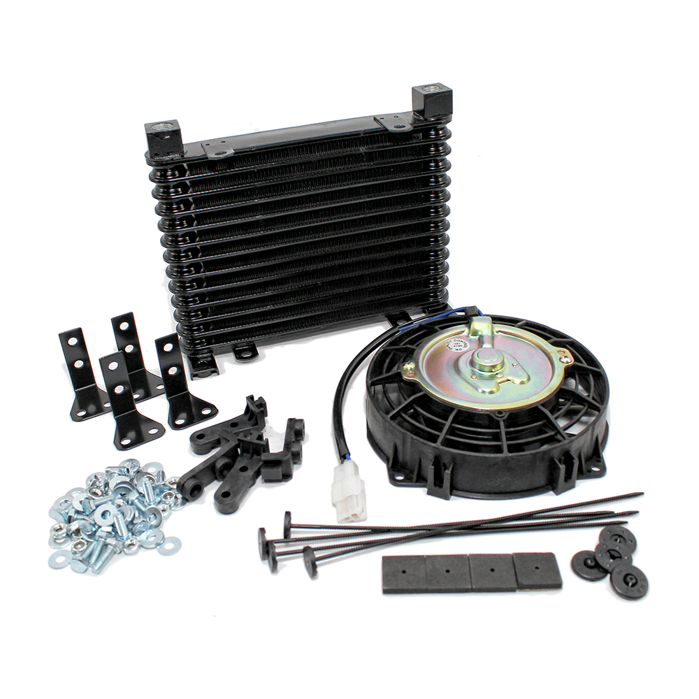 """Automatic Transmission Oil Cooler W/ 7"""" Electric Fan"""