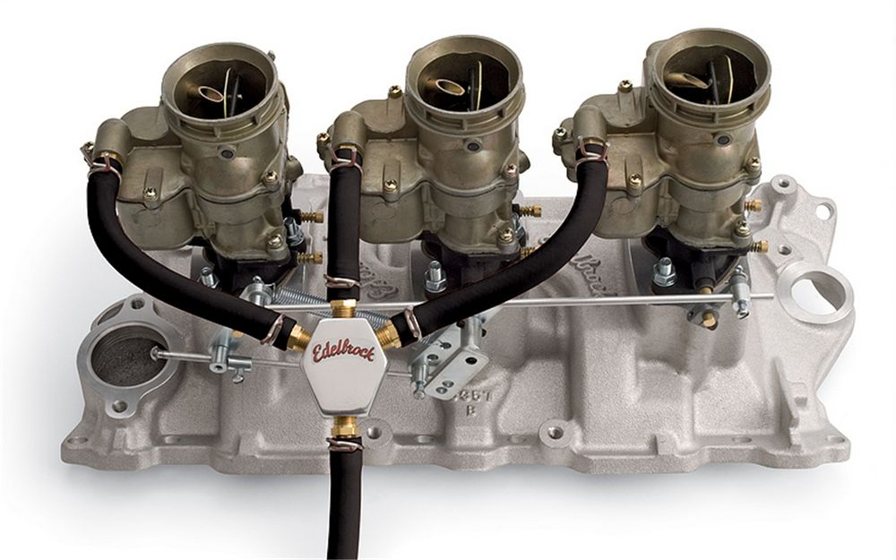 """Edelbrock 1158 Carb Inlet Fitting Straight 3//8/"""" Hose Barb 1//2 20/"""" Male Brass"""