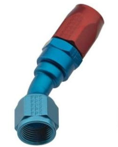 FRAGOLA PERFORMANCE SYSTEMS SERIES 2000 PRO-FLOW HOSE ENDS 223012 FITTING, HOSE END, REUSABLE, 30 DEGREE, -16 AN HOSE TO FEMALE -16 AN, ALUMINUM, BLUE ANODIZED FRA-223016