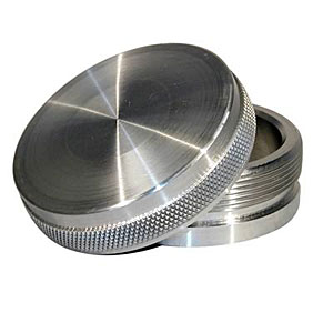 CAP AND BUNG ASSEMBLY, FUEL FILLER STYLE, ALUMINUM BUNG