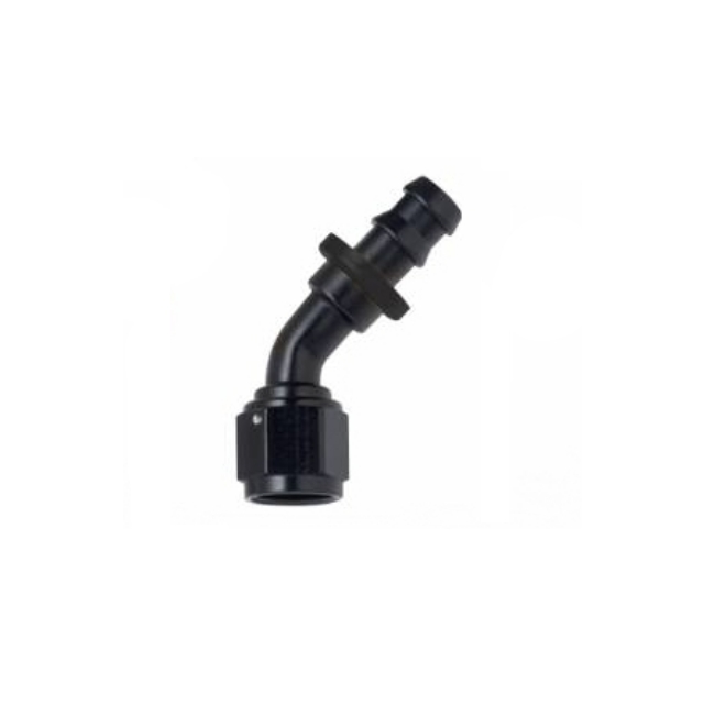 FRAGOLA PERFORMANCE SYSTEMS SERIES 8000 16AN PUSH LOCK FITTING 206016-BL 60 DEGREE HOSE END BLACK BLUE