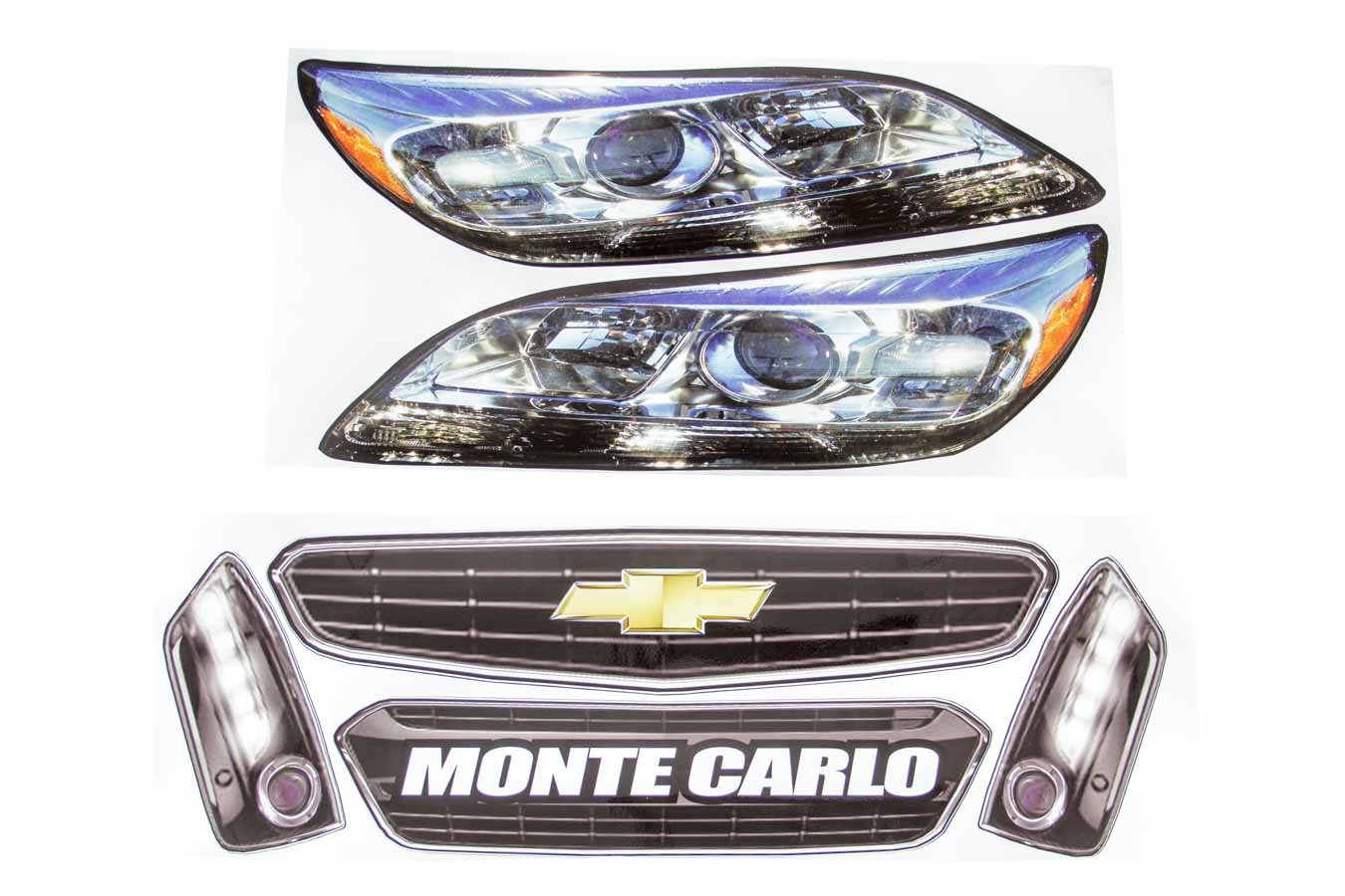 Allstar Performance ALL23038 Monte Carlo SS Head Light Kit Nose Decal Kit With M
