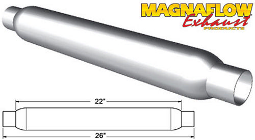 Magnaflow Rumble Aluminizd Muffler 3in Center//Dual 2.5 Out R20402