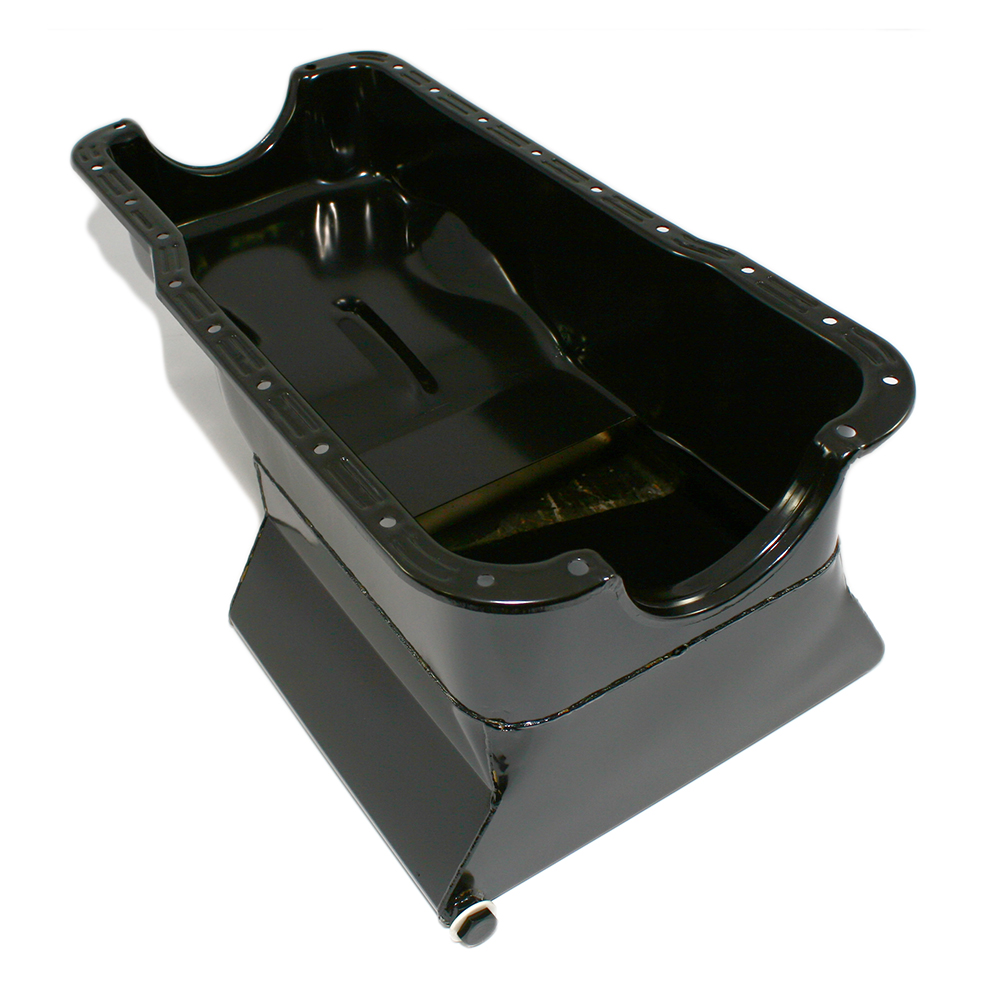 SBF Ford 302 Front Sump Oil Pan Dark Blue Small Block Windsor 260 289 5.0