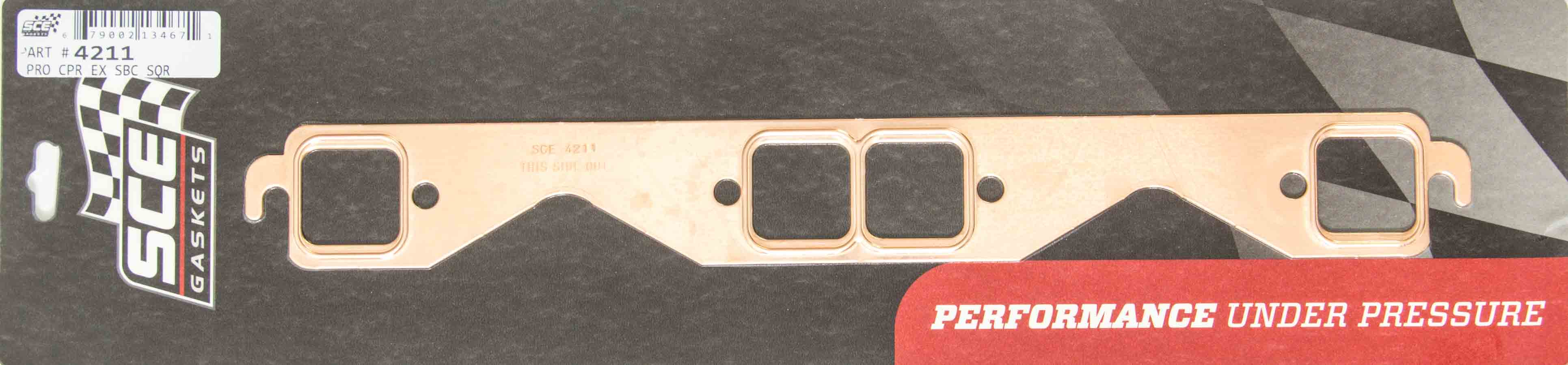 SCE Gaskets 4119 Pro-Copper Exhaust Gasket for GM LS1 Engine