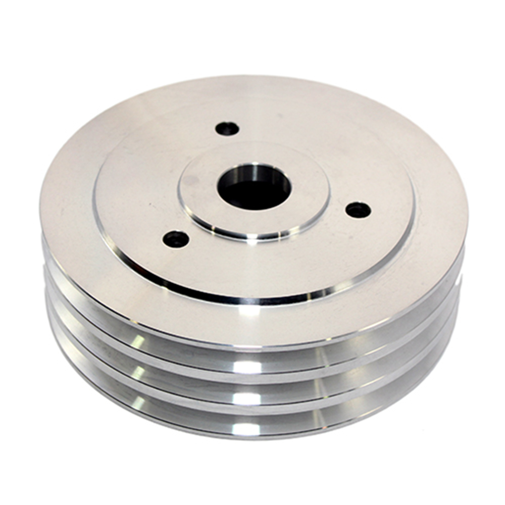 Chevy big block 3 groove pulley short water pump for Uses for old pulleys
