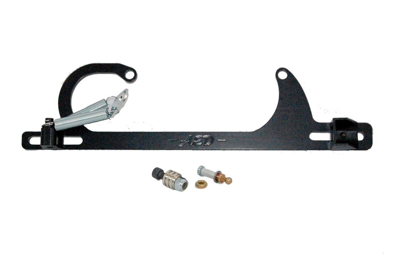 AED 6601BK Holley Ford Throttle Cable Bracket Kit with Return Springs
