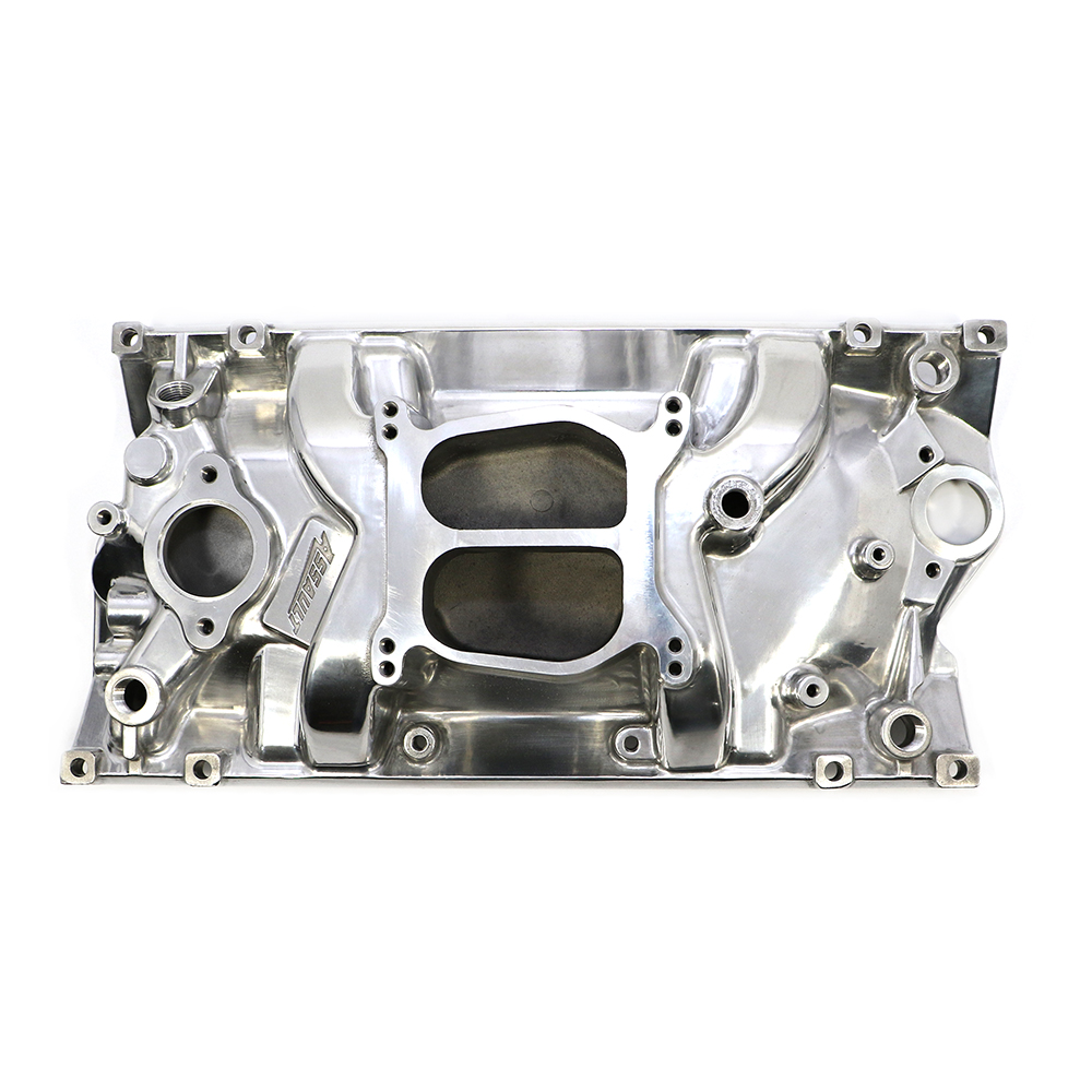 Small Block Chevy Dual Plane Vortec Polished Intake