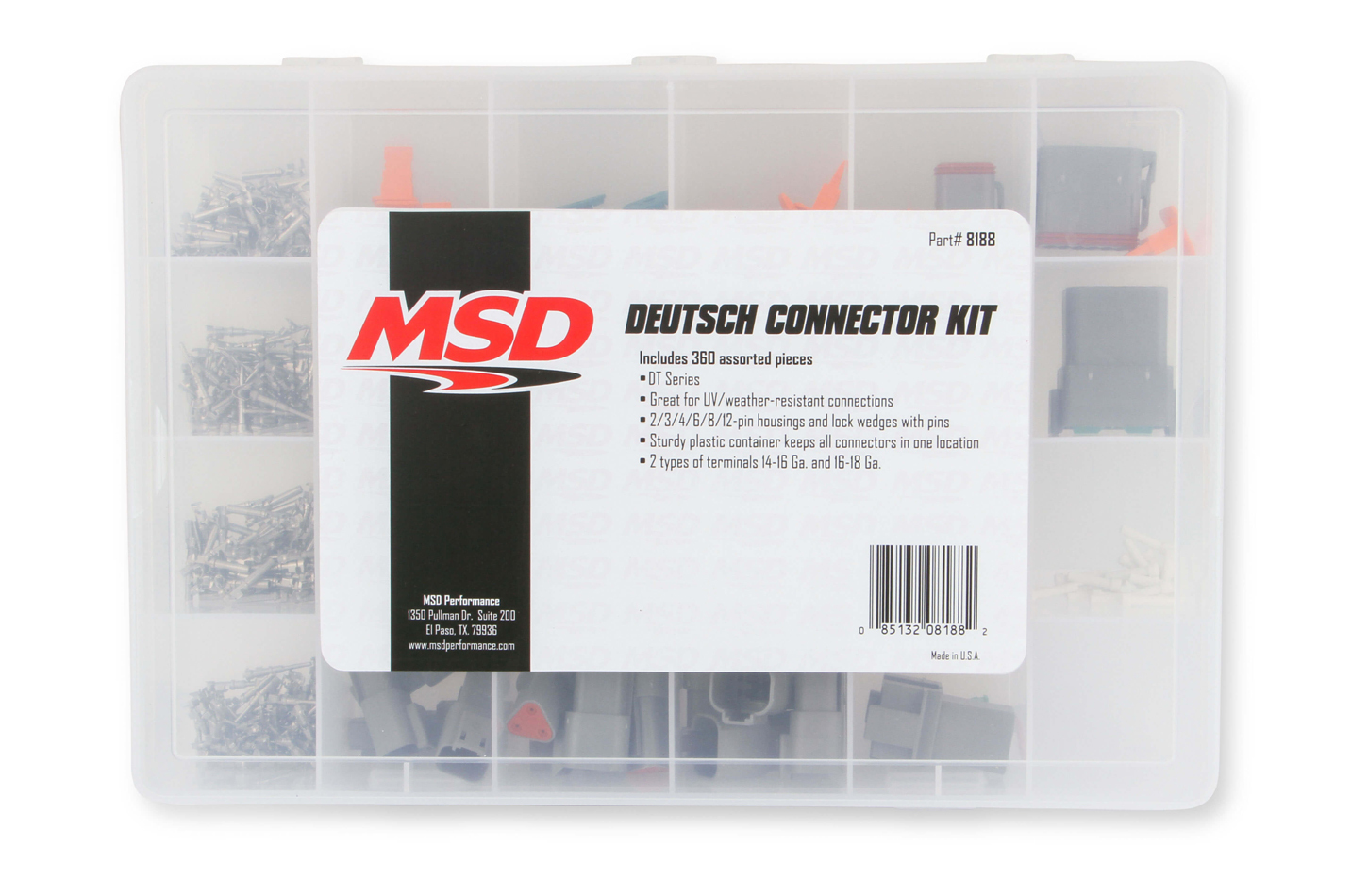 MSD Ignition 8824  Two Pin Connector Kits MSD8824