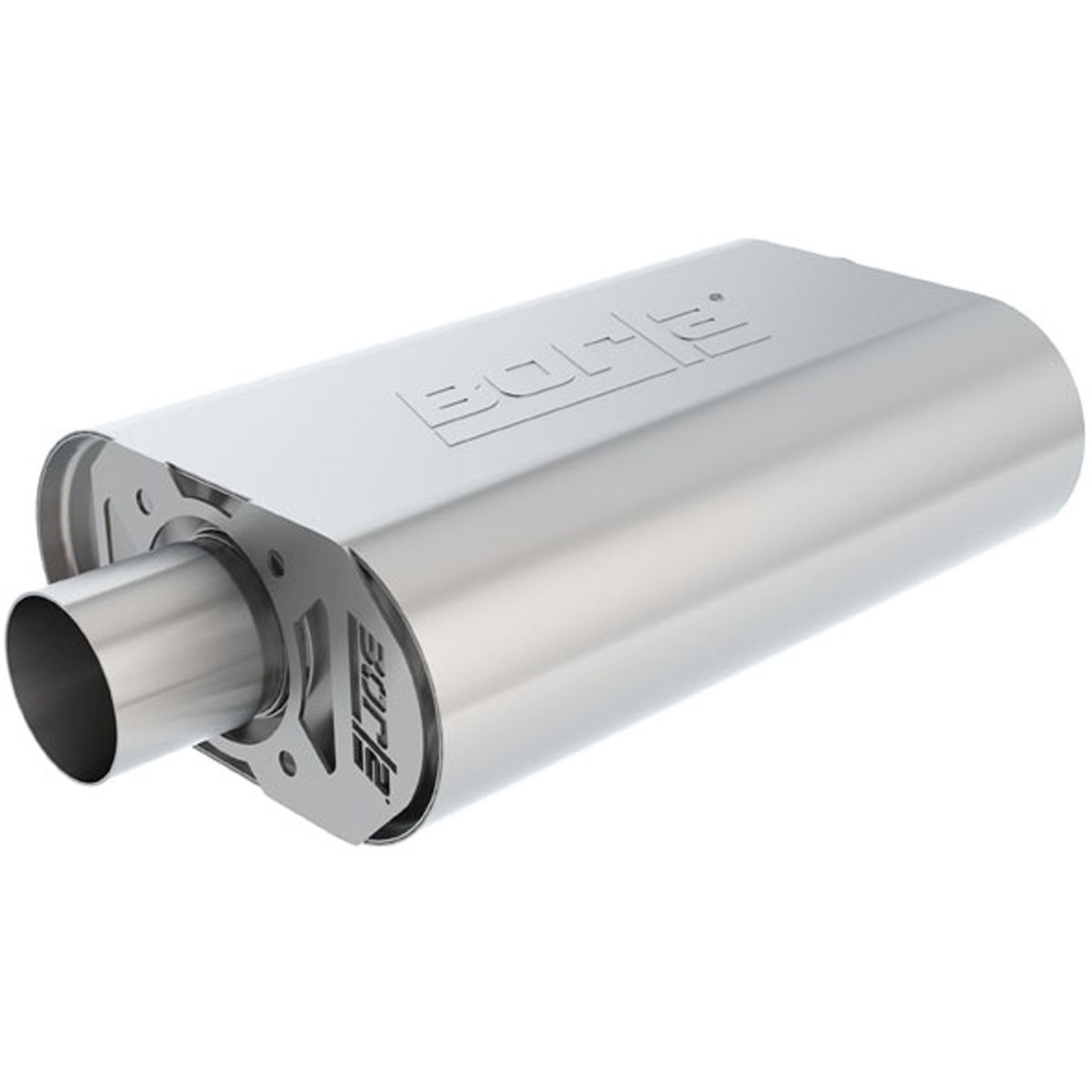Inlet//Outlet Stainless Steel Borla 400286 Muffler Borla Pro XS 2.5 in